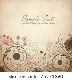 floral greeting card | Shutterstock .eps vector #75271360