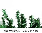 christmas decoration border... | Shutterstock . vector #752714515