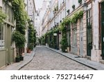 old street in paris  france.... | Shutterstock . vector #752714647
