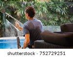 house window cleaner   Shutterstock . vector #752729251