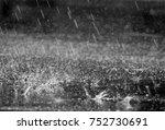 Rain Drop On Wet Asphalt Road...