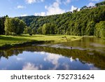 semois river in frahan and... | Shutterstock . vector #752731624