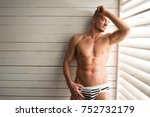 sexy sailor in a bungalow.  | Shutterstock . vector #752732179