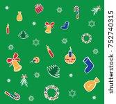vector illustration  christmas... | Shutterstock .eps vector #752740315
