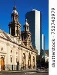 santiago  chile   february 11 ...   Shutterstock . vector #752742979