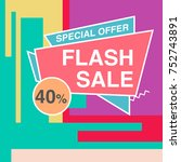 big sale modern banner in the... | Shutterstock .eps vector #752743891