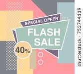 super sale modern banner in the ... | Shutterstock .eps vector #752744119