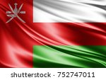 oman flag of silk 3d... | Shutterstock . vector #752747011