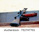 close up of kalashnikov ak 47...   Shutterstock . vector #752747701