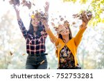having fun outside in the late... | Shutterstock . vector #752753281