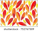 fallen leaves pattern design.   ...