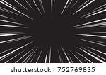 comic speed radial background | Shutterstock .eps vector #752769835