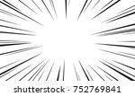 comic speed radial background | Shutterstock .eps vector #752769841