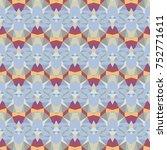 abstract vector modern seamless ... | Shutterstock .eps vector #752771611