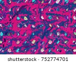 graphic illustration of color... | Shutterstock . vector #752774701