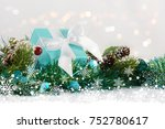 christmas gift nestled in...   Shutterstock . vector #752780617