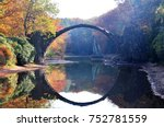 autumn rakotzbrucke in germany | Shutterstock . vector #752781559