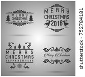 merry christmas typography for... | Shutterstock .eps vector #752784181