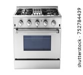 single gas range cooker with... | Shutterstock . vector #752784439
