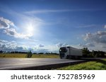 truck on the road | Shutterstock . vector #752785969