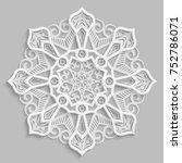 lace 3d mandala   round...   Shutterstock .eps vector #752786071