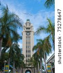Front Of Aloha Tower  Honolulu