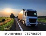 truck transportation | Shutterstock . vector #752786809