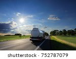 truck transportation at sunset | Shutterstock . vector #752787079