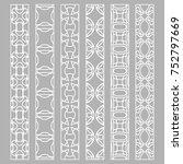 vector set of line borders with ... | Shutterstock .eps vector #752797669