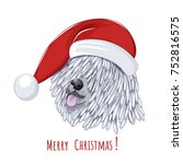 hungarian sheepdog wears... | Shutterstock .eps vector #752816575