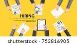human resource or hr management ... | Shutterstock .eps vector #752816905