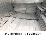 scrap metal on pile | Shutterstock . vector #752825299