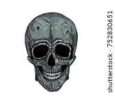 sugar skull. muertos. vector... | Shutterstock .eps vector #752830651