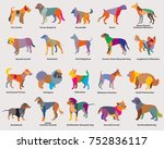 vector set of colorful mosaic... | Shutterstock .eps vector #752836117