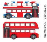 london double decker bus.... | Shutterstock .eps vector #752836951