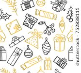 seamless vector pattern with... | Shutterstock .eps vector #752838115