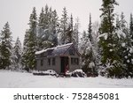 off grid tiny house in the... | Shutterstock . vector #752845081