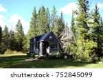 off grid tiny house in the... | Shutterstock . vector #752845099