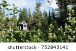 off grid tiny house in the... | Shutterstock . vector #752845141