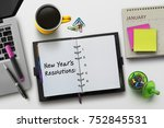 new year resolutions  goals or... | Shutterstock . vector #752845531