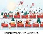 christmas  greetings template...   Shutterstock .eps vector #752845675