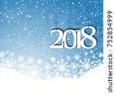 snowfall  background for... | Shutterstock .eps vector #752854999