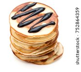 Pancakes  Stack With Chocolate...