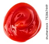 tomato sauce  ketchup isolated... | Shutterstock . vector #752867449