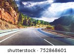 highway to destiny.tranquility... | Shutterstock . vector #752868601