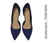 vector dark blue shoes  view...   Shutterstock .eps vector #752873041