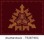 folk  tribal designs  motif ... | Shutterstock .eps vector #75287401