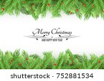 christmas background. bouquet... | Shutterstock .eps vector #752881534