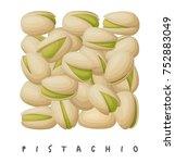 pistachio nuts square icon.... | Shutterstock .eps vector #752883049