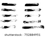 grunge vector brush strokes | Shutterstock .eps vector #752884951
